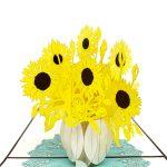 sunflowers-pop-up-card-detail