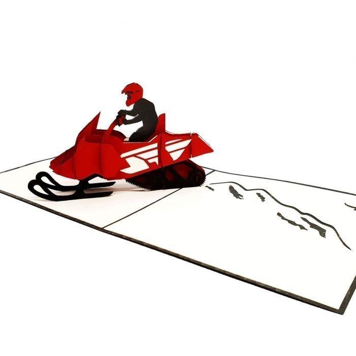Snowmobile Pop Up Card