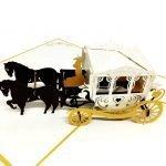 wedding-carriage-pop-up-card-detail