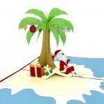 Christmas On The Beach Pop Up Card