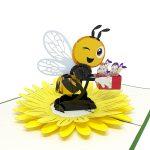 flowers-bee-pop-up-card-detail
